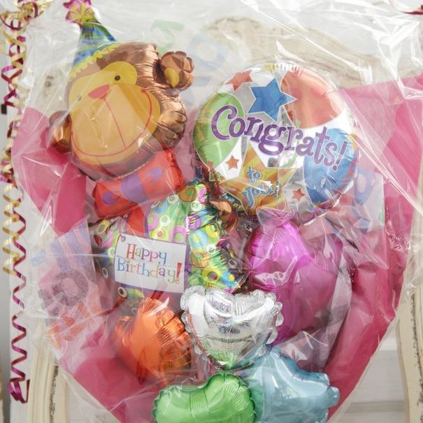 バルーンブーケ♪出産祝い子供の発表会お誕生日はモンチッチブーケで決まり♪