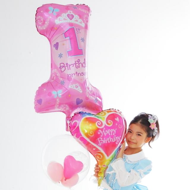 バルーンギフトお誕生日に1歳プリンセスバルーン