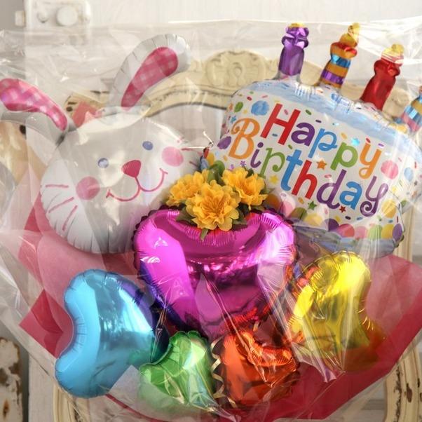 バルーンブーケ♪子供の発表会お誕生日はうさぎちゃんブーケで決まり♪