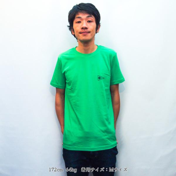 エビススキムボード ワンポイントTシャツ ブライトグリーン