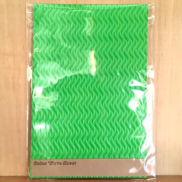 カラーウェーブシート ライトグリーン スキムボードデッキパッド