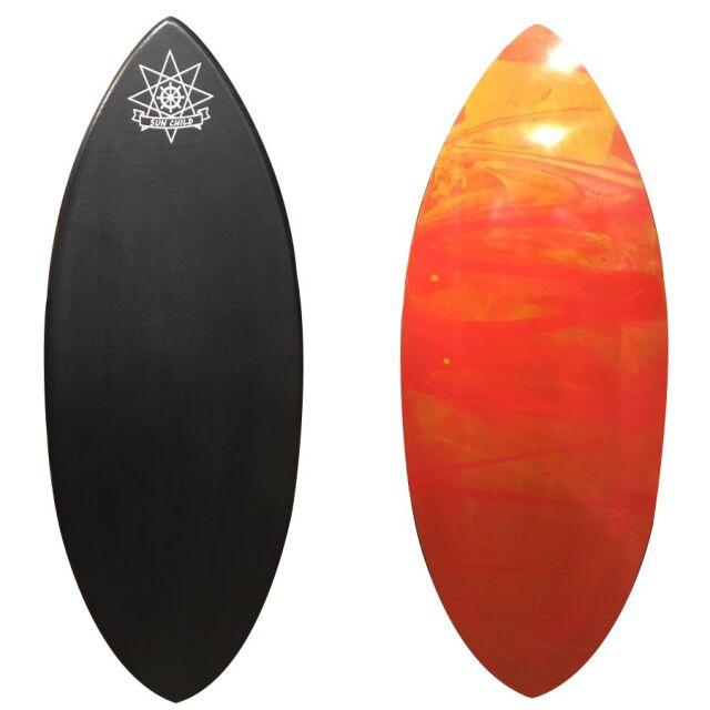 サンチャイルドスキムボード Eモデル ブラック/レジンアート Lサイズ 送料無料 即納