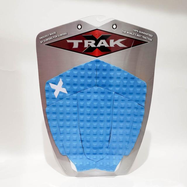 エックストラック デッキパッド FLYING FISH ネオンブルー X TRAK