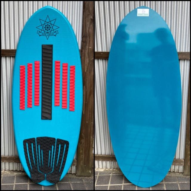 サンチャイルドスキムボード スケーター ターコイズブルー  デッキパッド セット 送料無料 即納