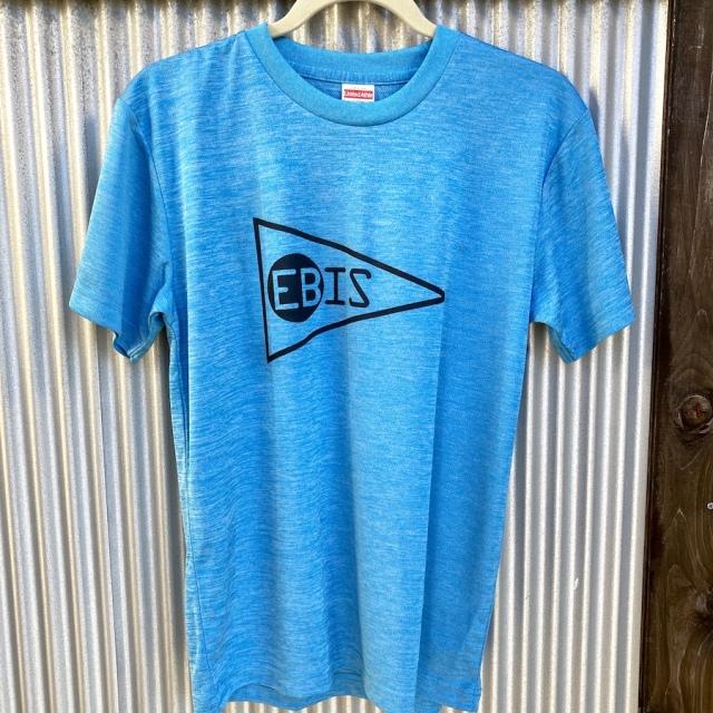 送料無料 EBIS・エビス メッシュ Tシャツ ブルー