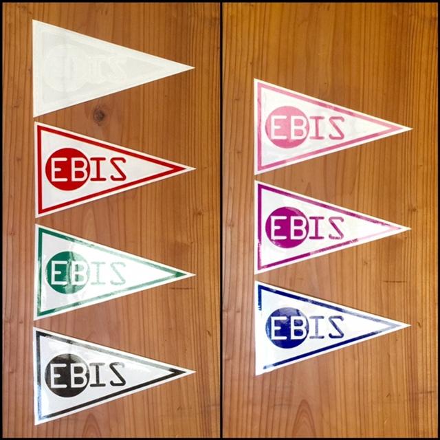 EBISフラッグステッカー 14cm×8.5cm