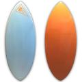 EBIS エビススキムボード hero/ヒーロー MSサイズ 18mm カーボン スカイブルー/オレンジ