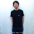 エビススキムボード ワンポイントTシャツ ブラック