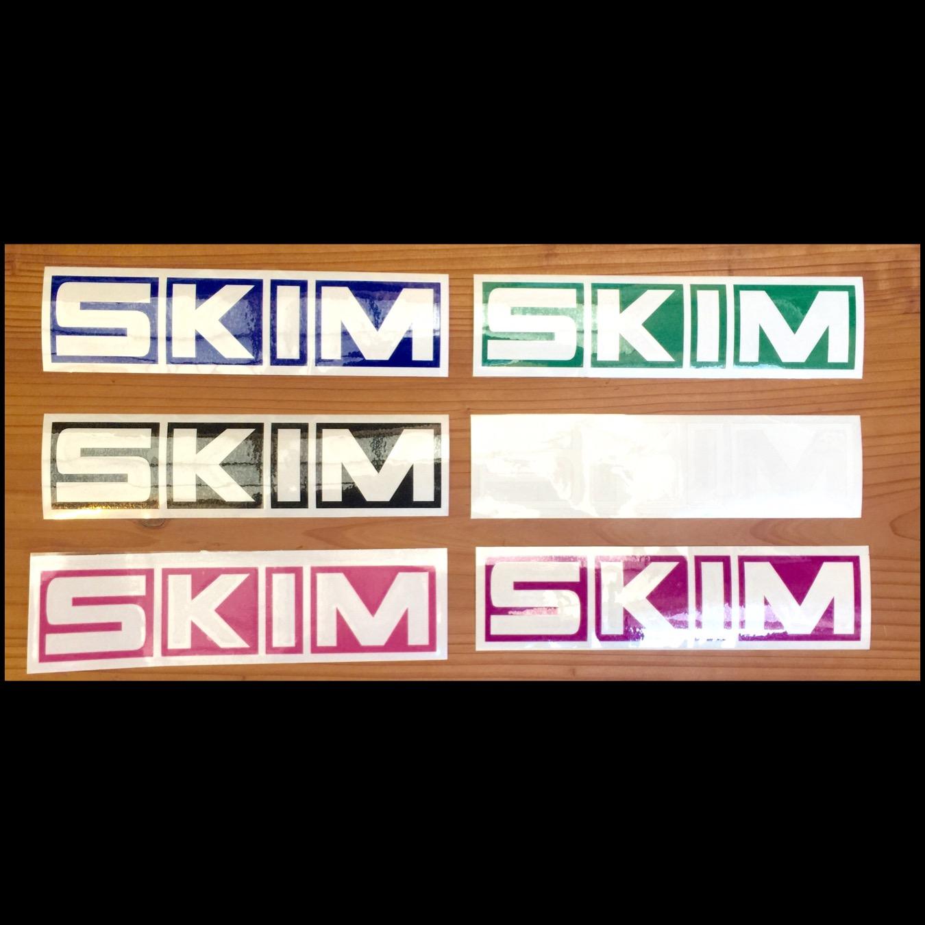 オリジナルステッカー SKIMボックス文字 18cm×4cm