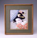 後藤博多人形 (額)牡丹雪