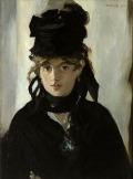 マネ [Berthe Morisot with a bouquet of Violets]