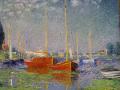 モネ [Red boats at Argenteuil]