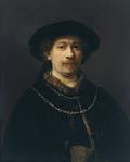レンブラント [Self-portrait wearing a Hat and two Chains]