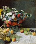 モネ [Still Life with Flowers and Fruit]