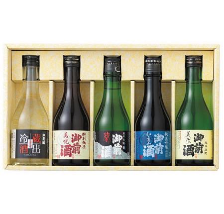 御前酒 味くらべGIFT(300ml×5本入)【飲みくらべセット】