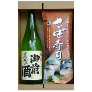【鯖寿司&日本酒】 御前酒とさば寿司1本セット