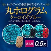 【ゆうパケット対象商品】高品質丸ホログラム 0.5g  ターコイズブルー[会員割引対象]