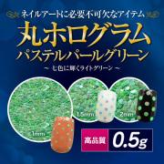 【ゆうパケット対象商品】高品質丸ホログラムパステルパールグリーン0.5g[会員割引対象]