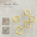 【ゆうパケット対象商品】イレギュラーフレームA01 ゴールド/ピンクゴールド/シルバー 5個  最大約8ミリ