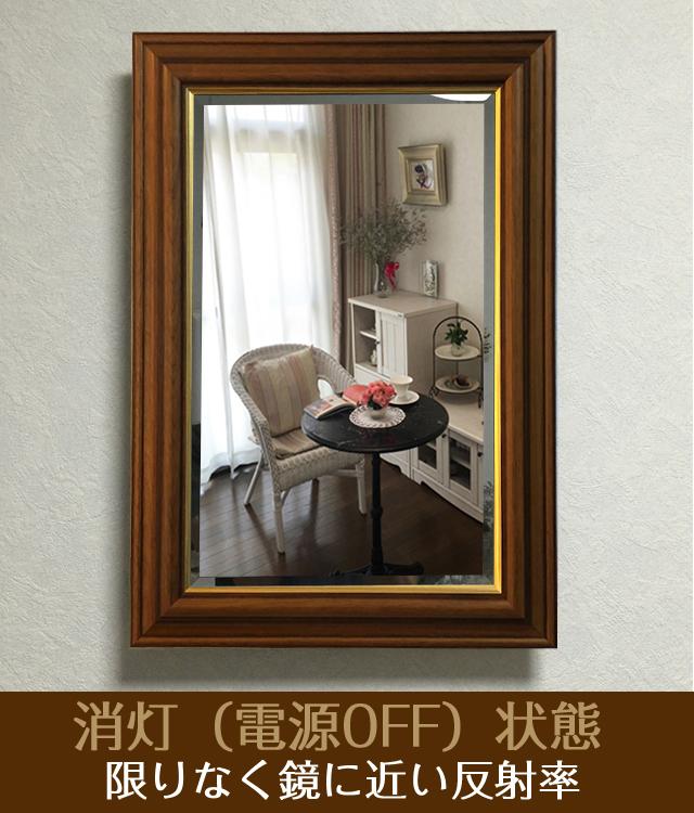 薄型インテリア壁掛け仏壇「鏡壇ミラリエ」アンティークブラウン