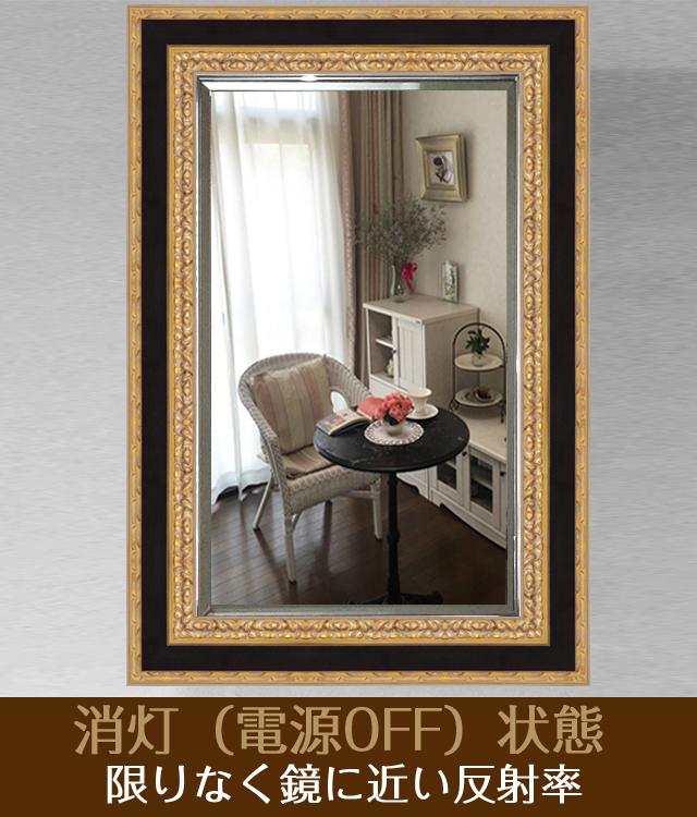 インテリア壁掛け仏壇「鏡壇ミラリエ」ブラックj&ゴールド