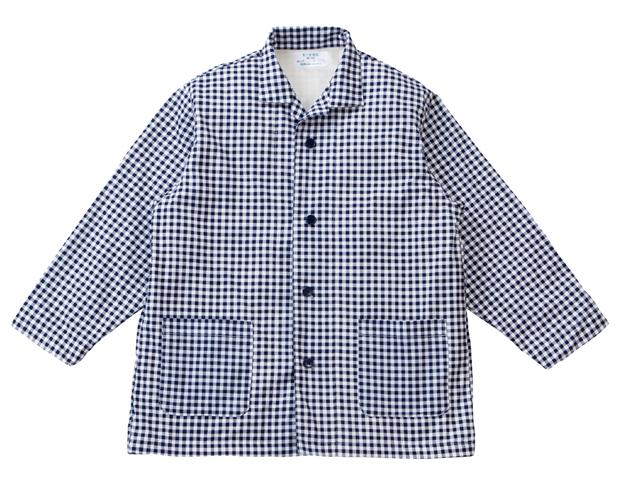 エンゼル オーガニックパジャマNKY-550A 上衣(紳士用) ネイビー