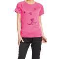 挿入する ドライメッシュプリントTシャツ ピンク