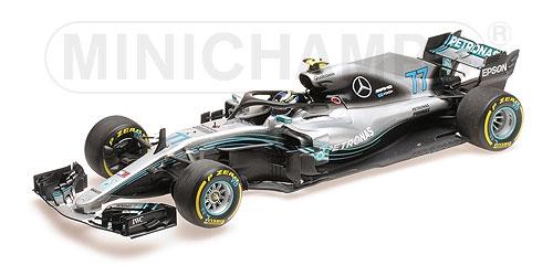 ミニチャンプス 1/18 メルセデス F1チーム W09 V.ボッタス 2018