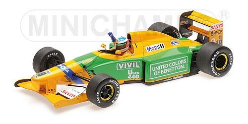 ミニチャンプス 1/18 ベネトン フォード B192 M.シューマッハー 1992年ベルギーGP(スパフランコルシャングランプリ初優勝)