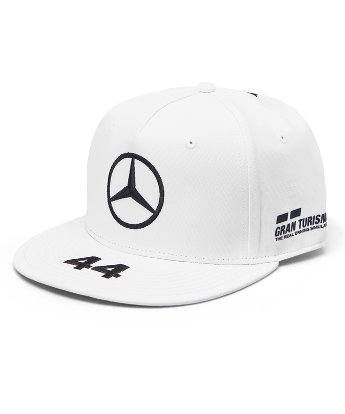 MERCEDES 2019 メルセデスベンツAMGペトロナスF1 L.ハミルトン ドライバーズフラットキャップ ホワイト