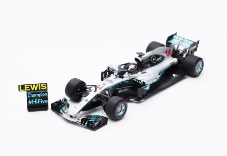 スパーク 1/18 メルセデスW09 L.ハミルトン 2018年メキシコGP FormulaOneDriverChampion (With pit board) No.44