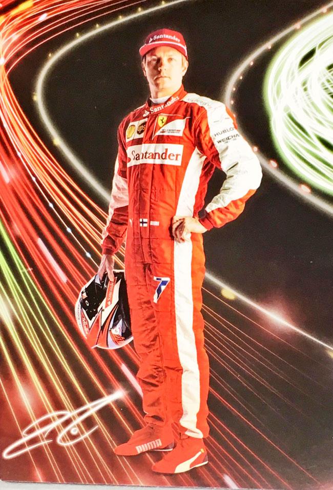 2015年 フェラーリ K.ライコネン ドライバーズカード