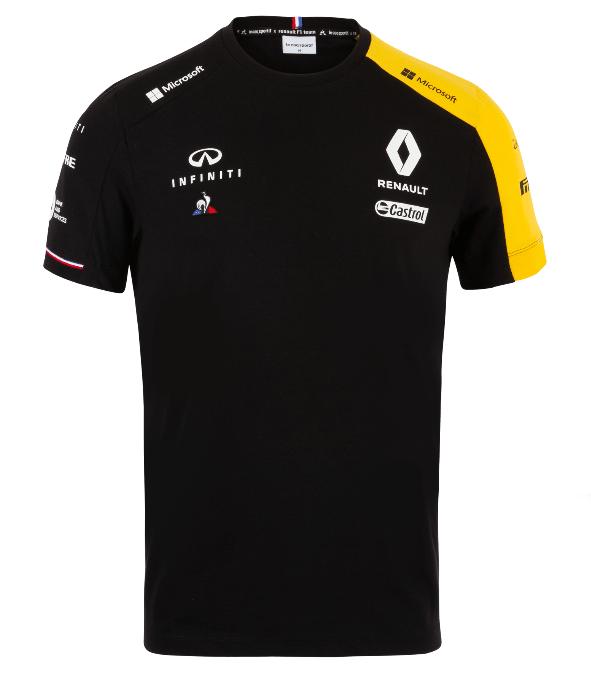 2019 ルノー F1チーム チームTシャツ ブラック