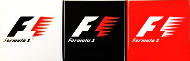 フォーミュラ1 1993~2017 ロゴステッカー 3色セット