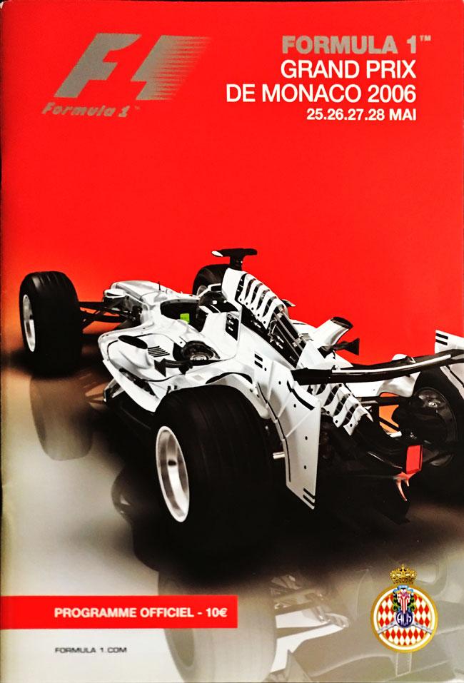 F1公式プログラム 2006年モナコGP