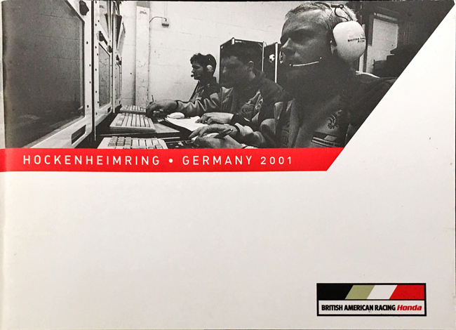 【SALE】BAR HONDA 2001年ドイツGP メディア&ゲストガイド