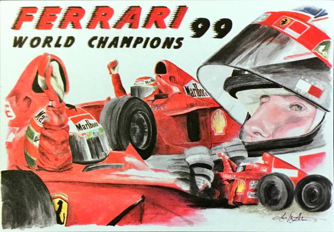 フェラーリミュージアム(FERRARI F1)1999年チャンピオン L.アントニオ イラストカード
