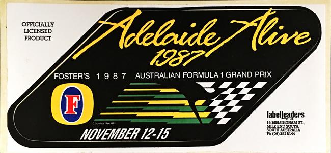オーストラリアGP 1987年 公式ステッカー
