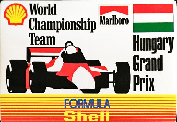 マルボロ (Marlboro)&シェル(Shell) 1990年代 ハンガリーGP プロモーションステッカー