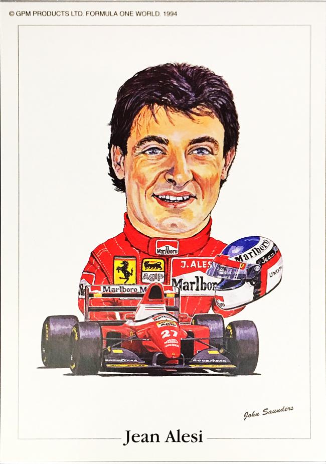 フェラーリ F93A ジャン・アレジ 1993年  ジョン・サンダース イラストカード