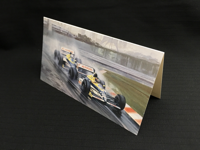 ウィリアムズ FW12C 1989年カナダGP ティエリー・ブーツェン マイケル・ターナー クリスマス・ニューイヤーカード 2つ折り