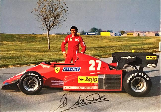 フェラーリ(FERRARI F1) 1984 M.アルボレート ファクトリーカード