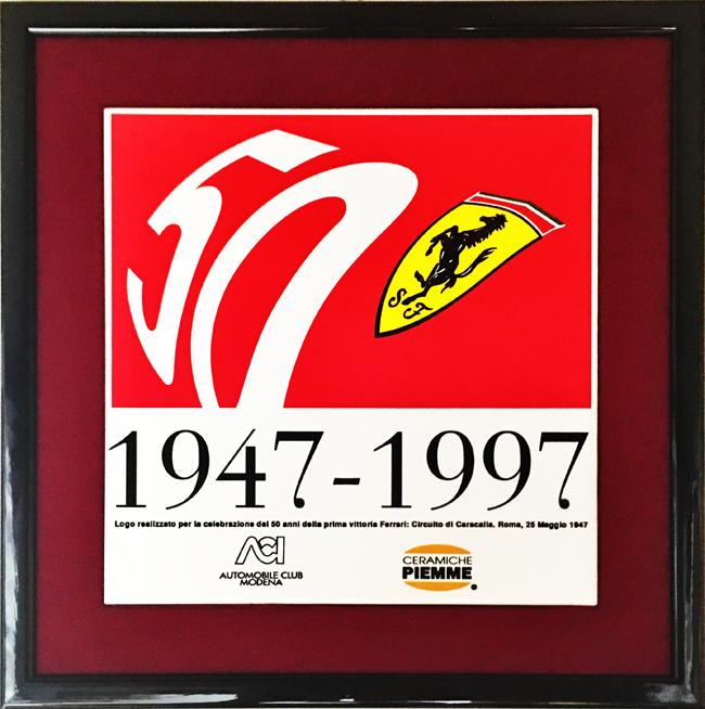 FERRARI(フェラーリ)50周年記念タイル(額装品)