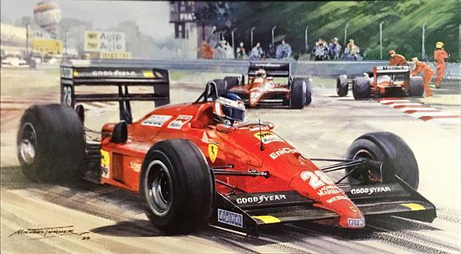 G.ベルガー  フェラーリF187 1988年イタリアGP マイケル・ターナー アートカード