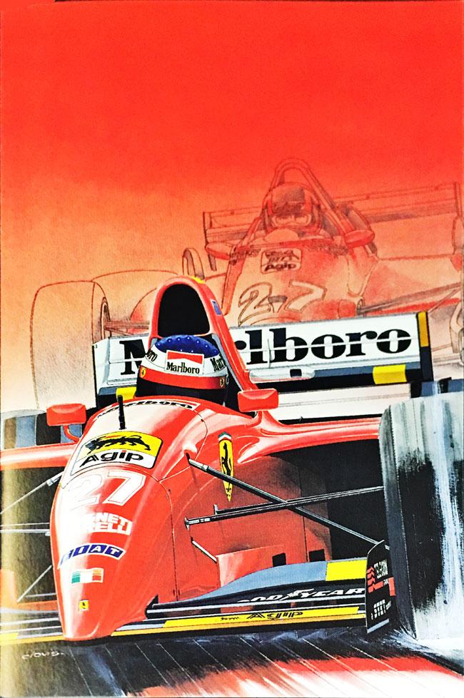 J.アレジ フェラーリ412T2 1995 クロビス グリーティングカード