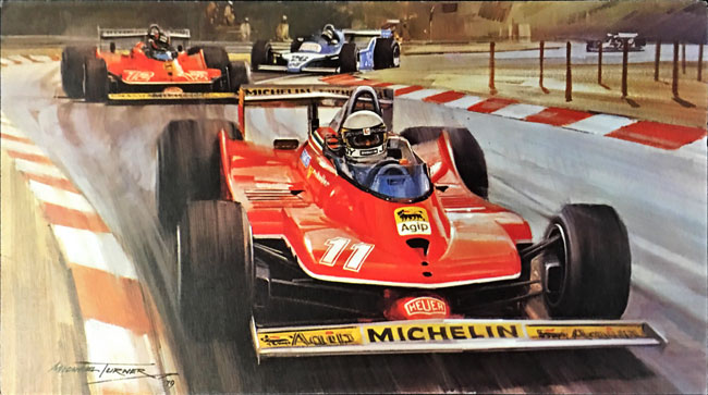 J.シェクター フェラーリ312T4 1979年イタリアGP マイケル・ターナー アートカード