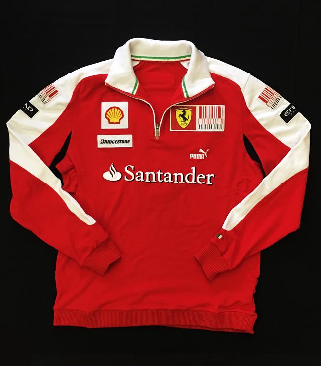 2010 フェラーリ(FERRARI F1) チーム支給品 チームスタッフフリース USED サイズXL