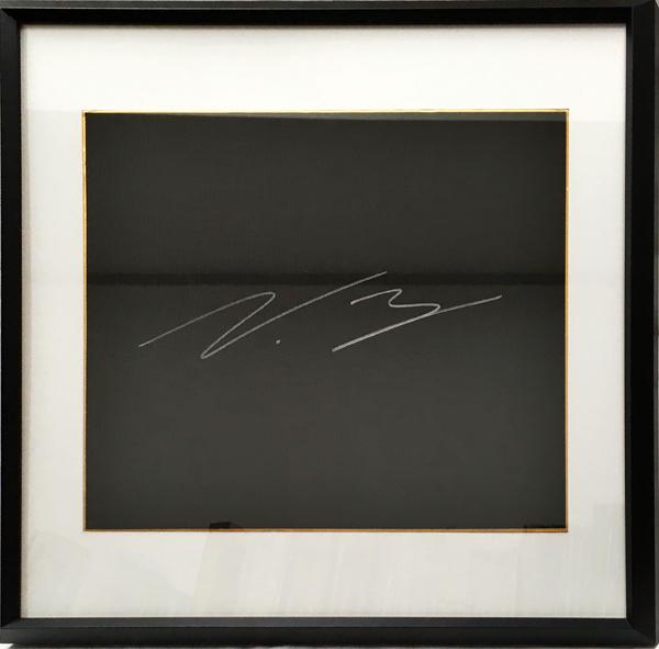 【SALE】V.ボッタス 直筆サイン入 ブラック色紙(額装品)