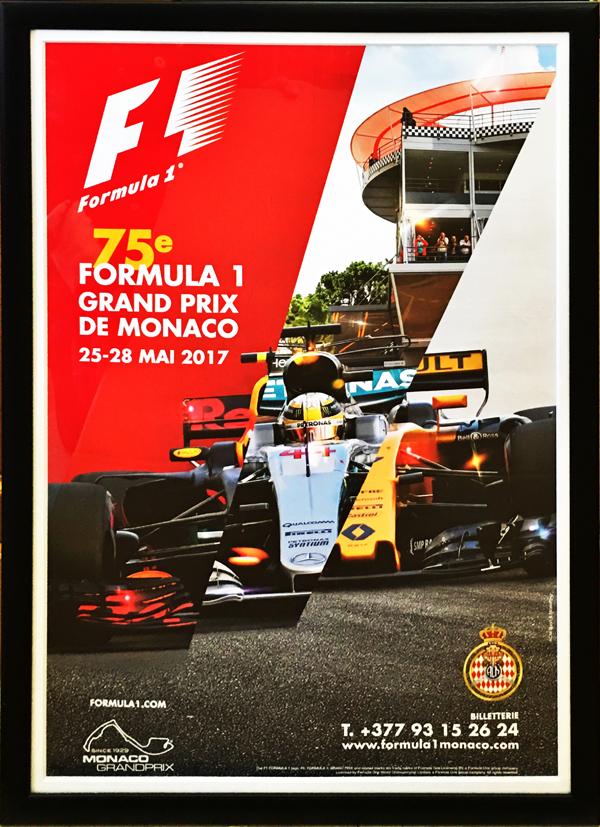 【再入荷】2017 F1モナコGP 開催記念 公式ポスター(額装品)
