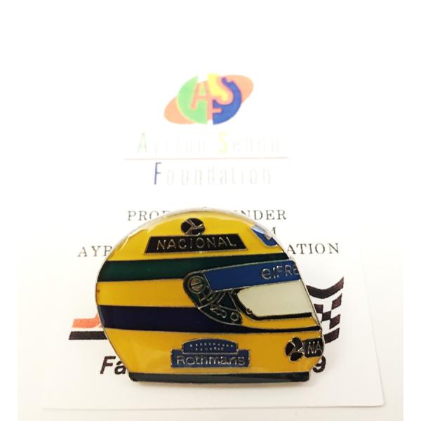 アイルトン・セナ 1994ヘルメット ピンバッチ タイプB